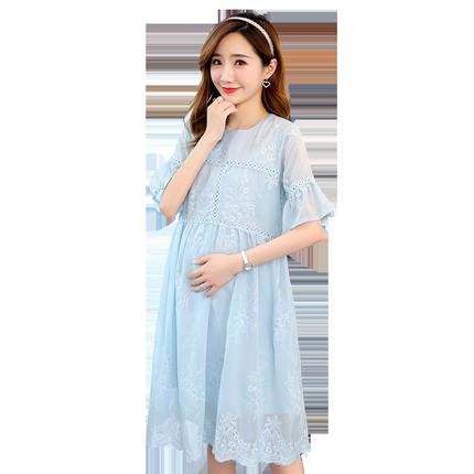 孕妇装夏装新款韩版雪纺2019宽松