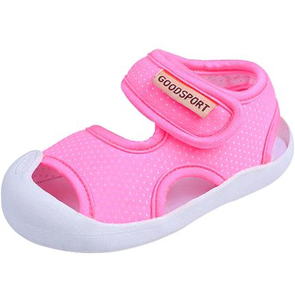 女凉鞋1-2岁宝宝不掉软底夏男童鞋