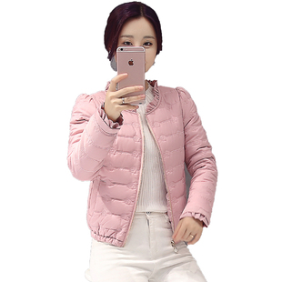 棉襖女2018新款薄款羽絨棉 女短款棉衣 冬裝反季棉服外套清倉促銷