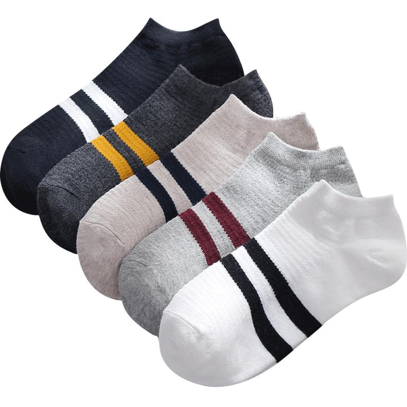 袜子男士短袜秋冬运动纯色棉袜网眼四季透气防臭吸汗低帮浅口船袜
