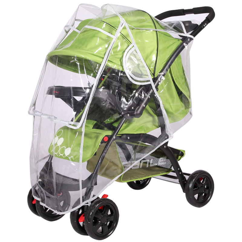 通用型婴儿车雨罩推车防风罩宝宝推车伞车防雨罩保暖罩儿童车雨衣
