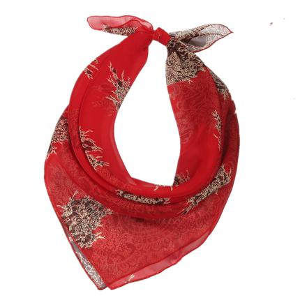 小丝巾装饰日系薄款小chic小方巾