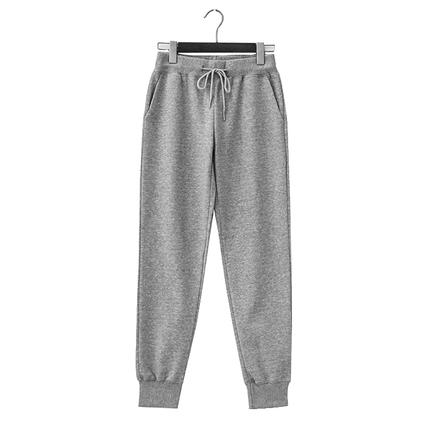 灰色宽松小脚2019春季新款韩版卫裤