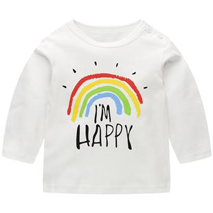 女童長袖T恤秋季寶寶長袖秋衣純棉上衣夏男兒童打底衫小童嬰兒春
