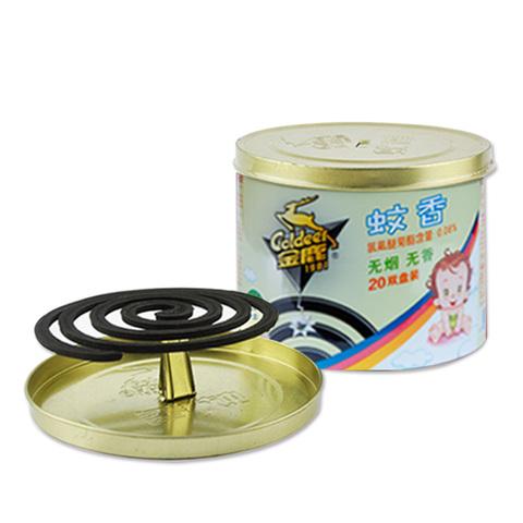 金鹿蚊香3桶40盘 野外户外强力驱蚊灭蚊无味带盖桶装盘香