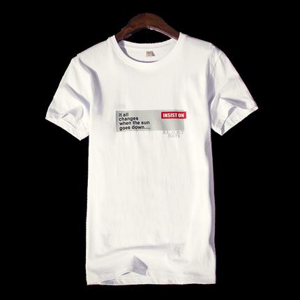 男士短袖2018新款夏季潮流韩版t恤