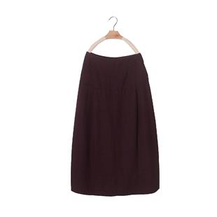 秋季棉麻半身裙中長款女收腰百搭燈籠裙高腰修身顯瘦苧麻花苞裙子