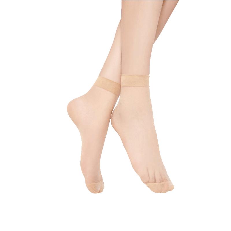 【华高】5双装高弹平纹丝袜短袜