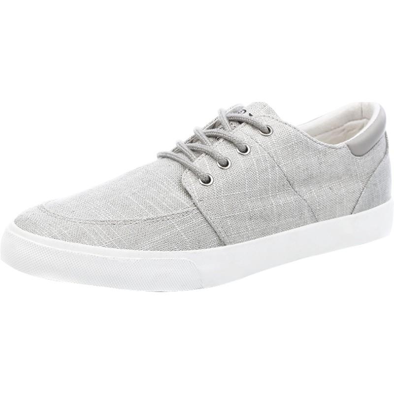 人本帆布鞋男棉麻休闲春季低帮男鞋质量如何