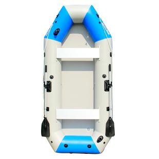 海的橡皮艇加厚電動釣魚艇耐磨釣魚船摺疊充氣船馬達硬底皮划艇