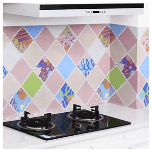 厨房防油贴纸耐高温橱柜油烟机墙贴