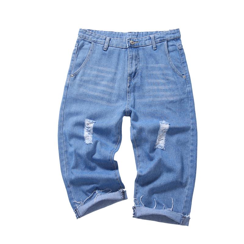 潮牌夏季男士日系牛仔裤