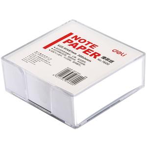 2盒装得力带盒记事白纸备忘便签纸