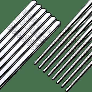 304不锈钢家用防滑耐高温筷子10双