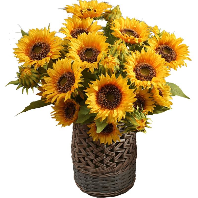 向日葵仿真花束摆设干花瓶客厅假花质量怎么样