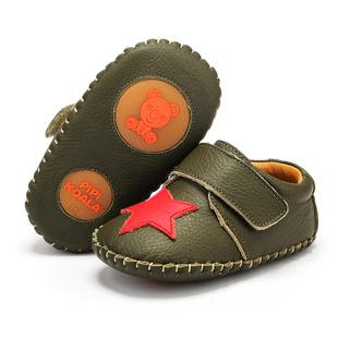 屁屁熊婴儿学步鞋春秋牛皮宝宝鞋子