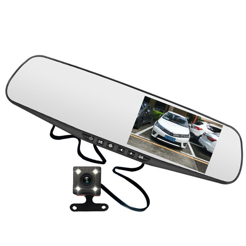 汽车载行车记录仪前后双镜头高清夜视360度全景倒车影像停车监控