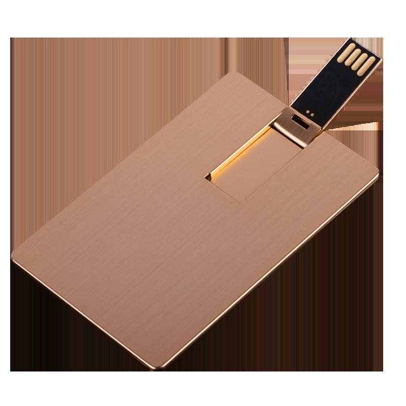 金属卡片u盘32gb 高速32G名片式优盘创意实用商务个性礼品定制 专属婚庆展会活动党员纪念品16gb定制LOGO刻字