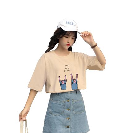 短袖女学生宽松韩版ulzzang t恤