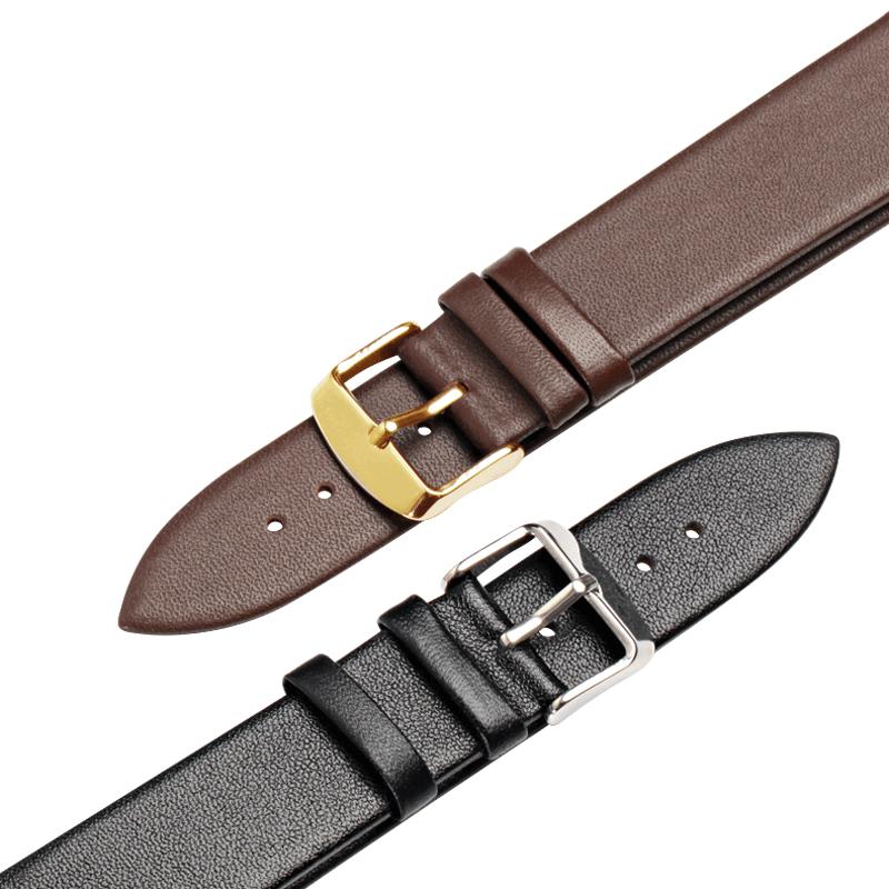 真皮表带蝴蝶扣dw天梭卡西欧ck浪琴代用男女款通用手表带配件22mm
