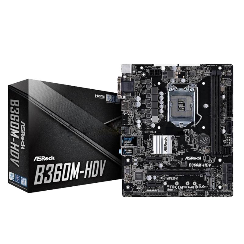 华擎科技B365M B360M HDV PRO4电脑台式机主板支持八代/九代CPU