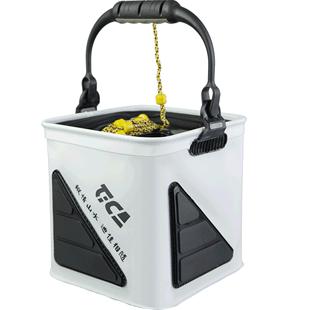 迪佳加固EVA加厚魚護桶打水桶防水摺疊釣魚桶活魚桶裝魚箱漁具