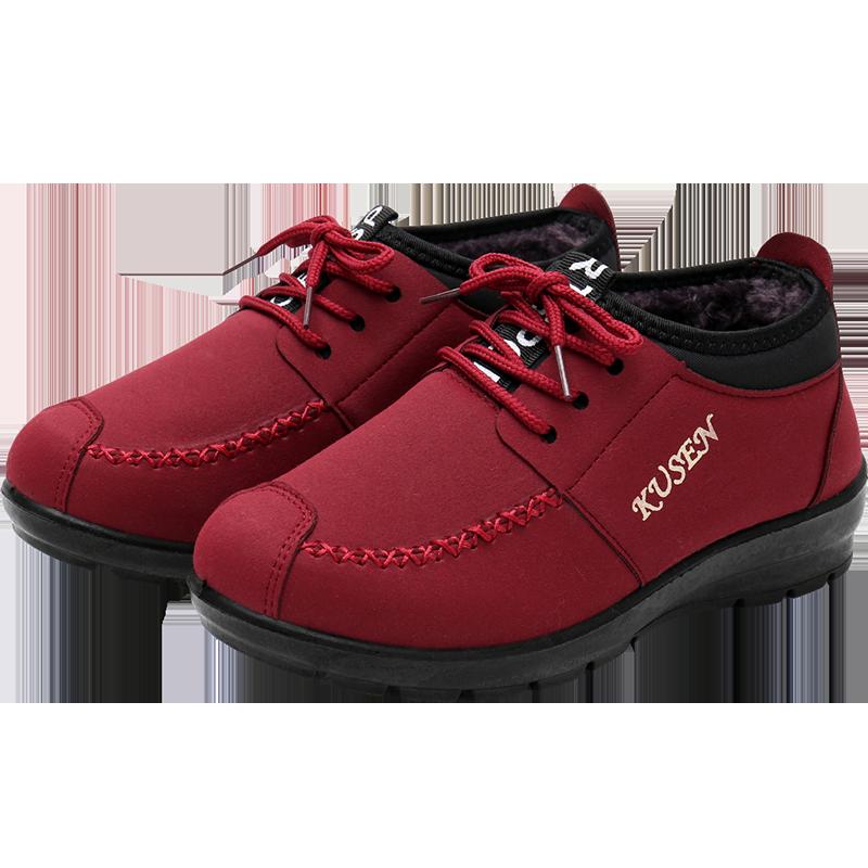 冬季老北京布鞋女鞋加绒保暖棉鞋中老年妈妈鞋防滑加厚软底奶奶鞋