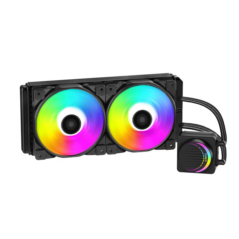 超频三偃月CPU水冷散热器120/240 1150 1151 2011 INTEL AMD一体式水冷套装RGB台式电脑机AM4水冷静音风扇