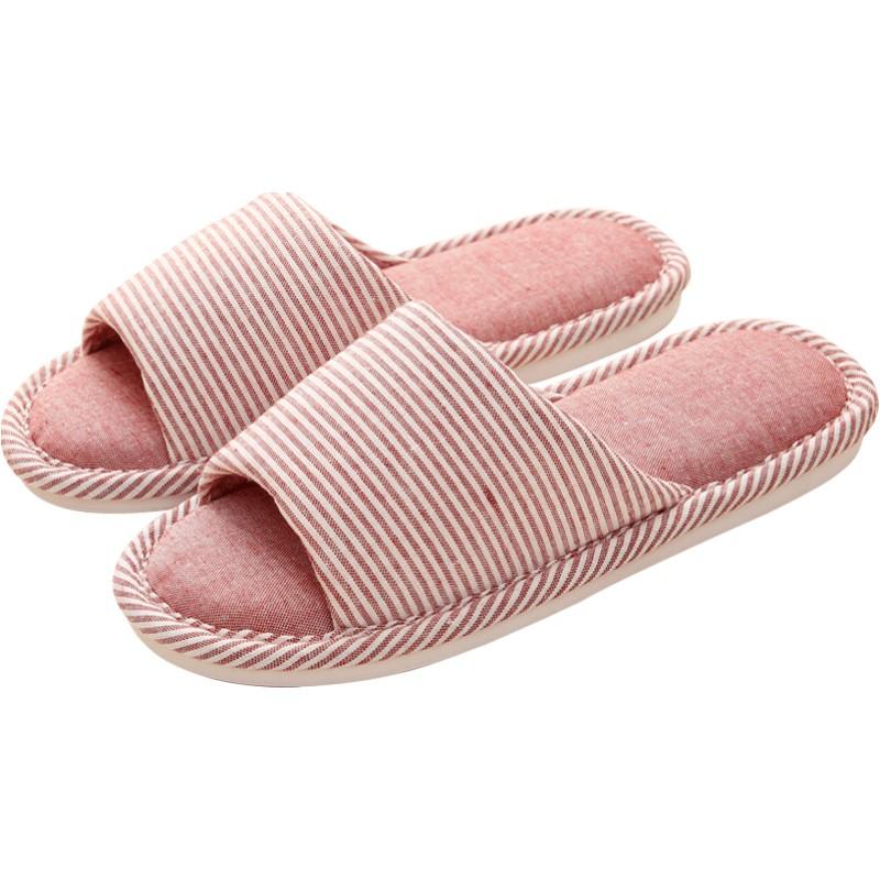 春秋四季家居家用亚麻布女夏棉拖鞋质量如何