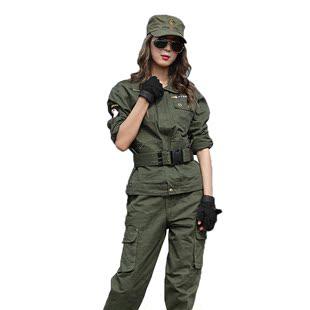 盾郎特種兵軍綠迷彩服男女户外野戰服工裝套裝純棉耐磨加厚工作服