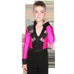 少儿童拉丁舞服装男童舞蹈服比赛服