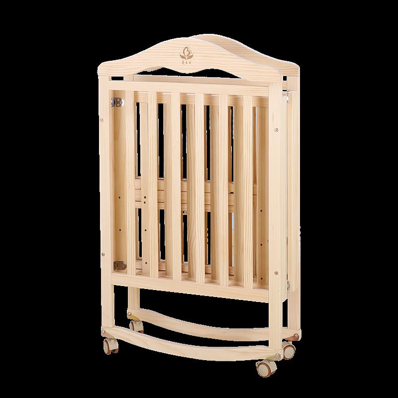 婴儿床实木可折叠免安装无漆多功能价格口碑参看