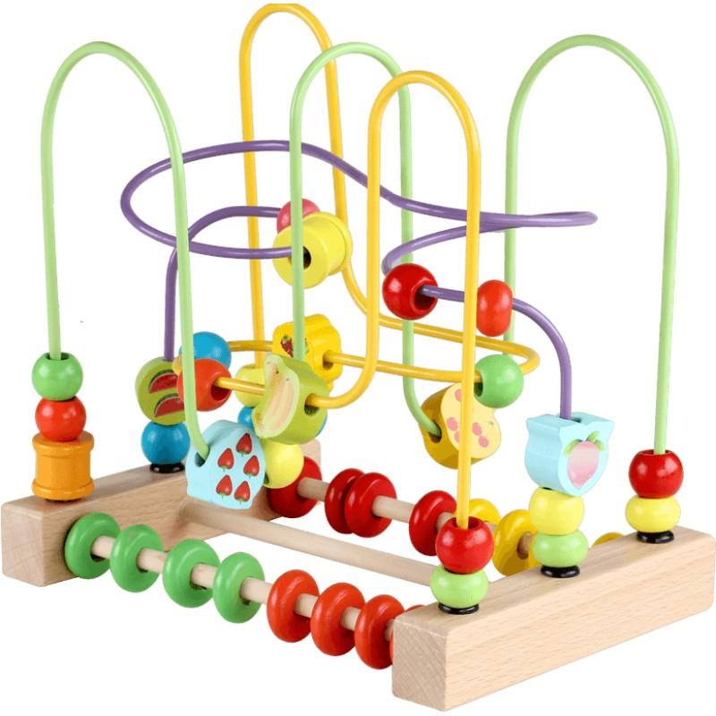 绕珠一岁宝宝益智早教12个月3积木好不好