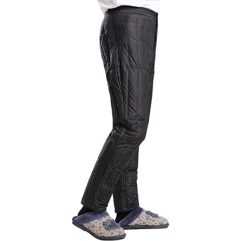中老年羽绒裤男加厚羽绒内胆裤修身保暖裤内穿大码男装冬季爸爸装
