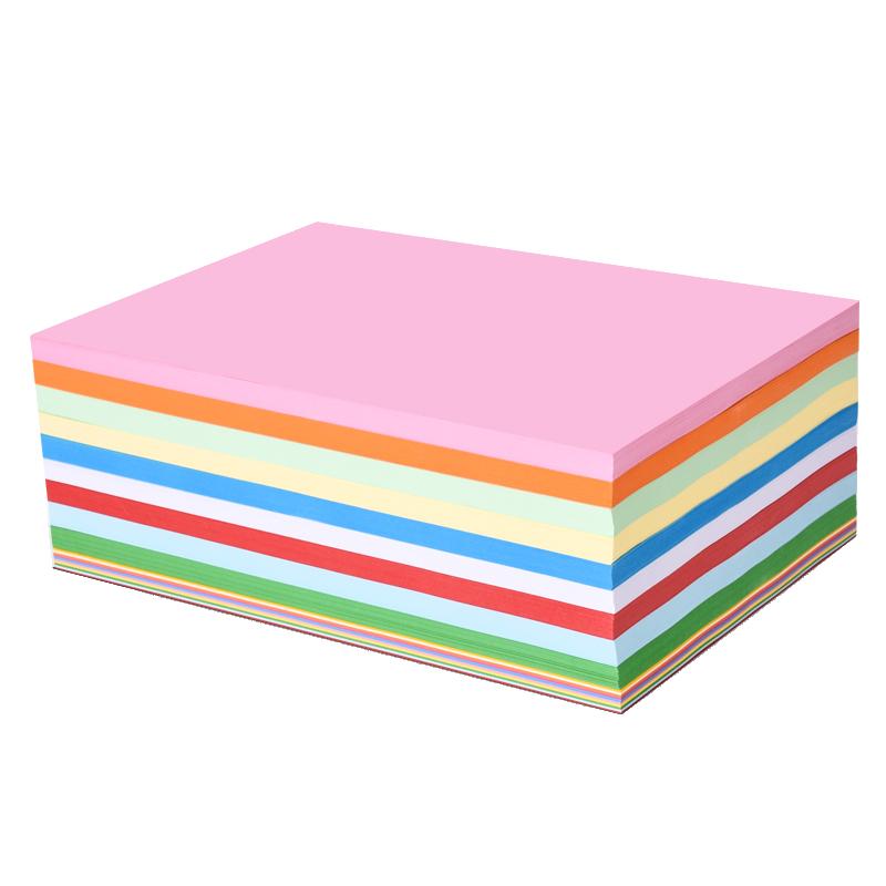 100张玛丽彩色复印纸A4幼儿园儿童小学生手工折纸大中小号加厚80g叠纸剪纸办公生活用彩纸打印纸批发包邮
