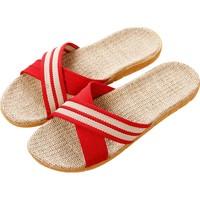 买一送一亚麻拖鞋女夏季室内居家质量好不好