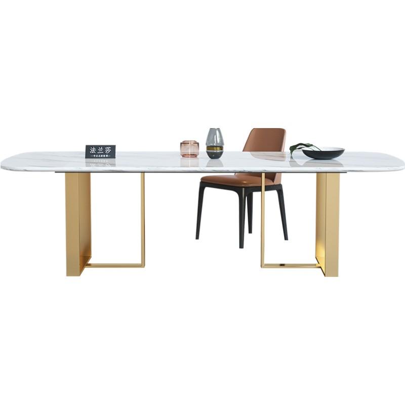 北欧岩板现代简约家用大理石餐桌椅好不好