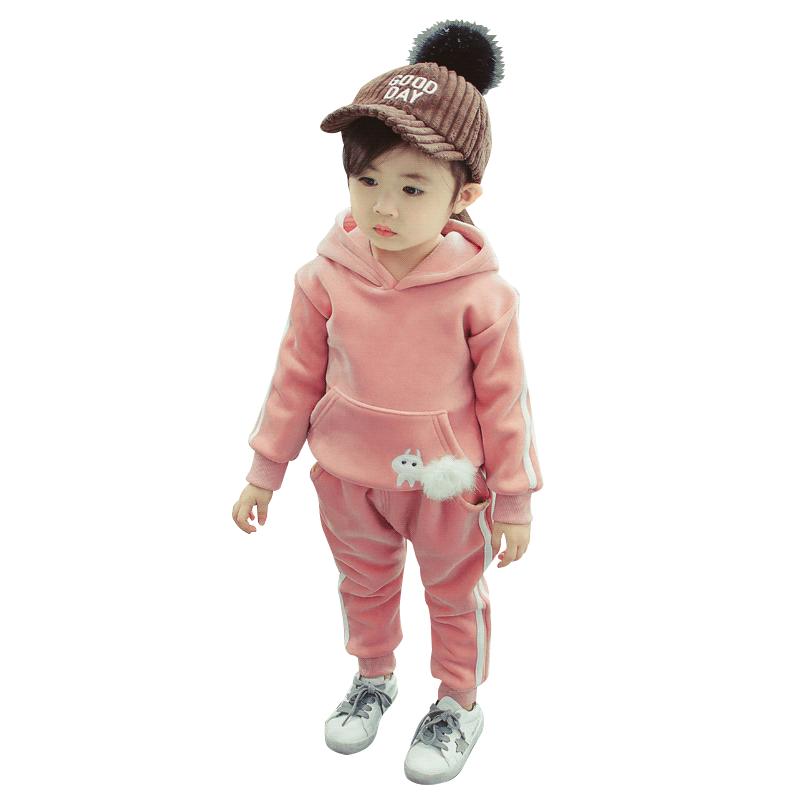 女宝宝春装套装男童2020新款春秋洋气金丝绒网红儿童两件女童套装
