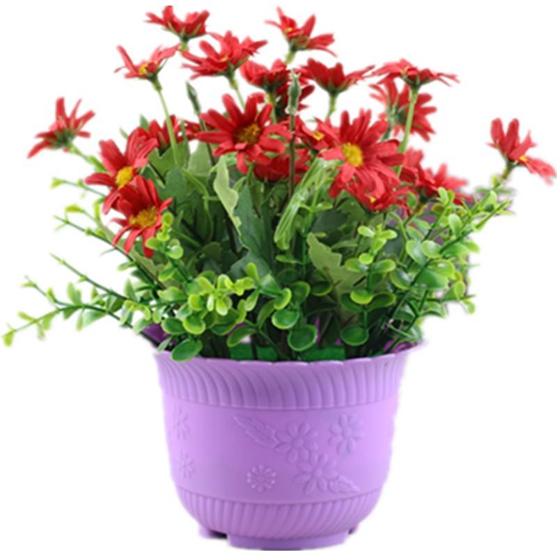 客厅室内摆设仿真塑料绿叶植物假花使用评测分享