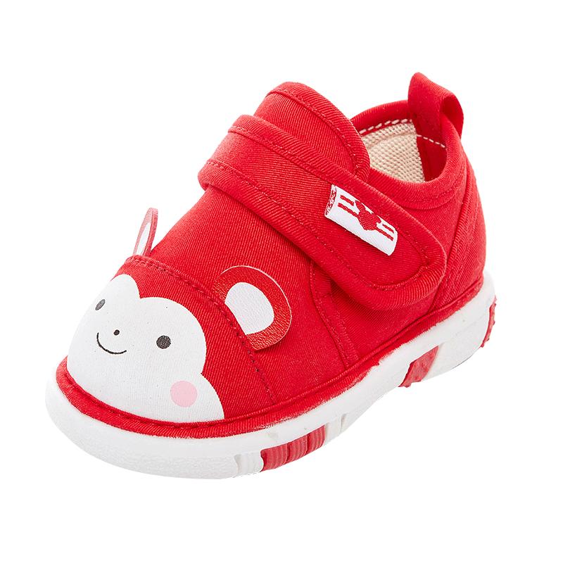 学步鞋春秋季宝宝鞋子女0-1-2-3岁婴儿鞋透气男童单鞋布鞋叫叫鞋