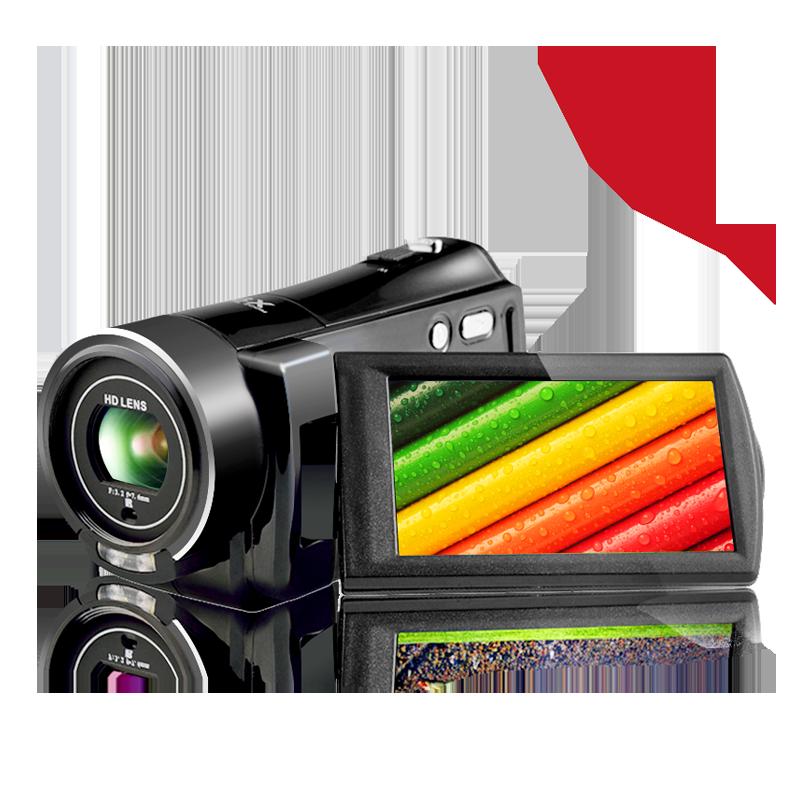台湾欧达摄像机高清数码dv专业数字一体机旅游家用接红圈4K超广角