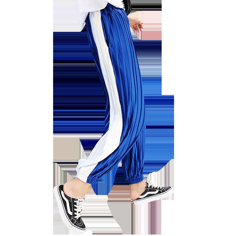 高腰垂感宽松直筒冰丝打底裤阔腿裤