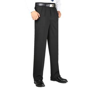 中老年人男士西裤高腰深挡大板裤子