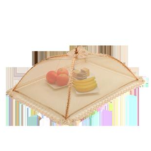 折叠餐桌罩盖菜碗防苍蝇蕾丝罩子