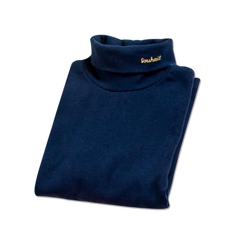 儿童高领衫水孩儿19四季款长袖纯色打底衫空调衫大童男童女童T恤