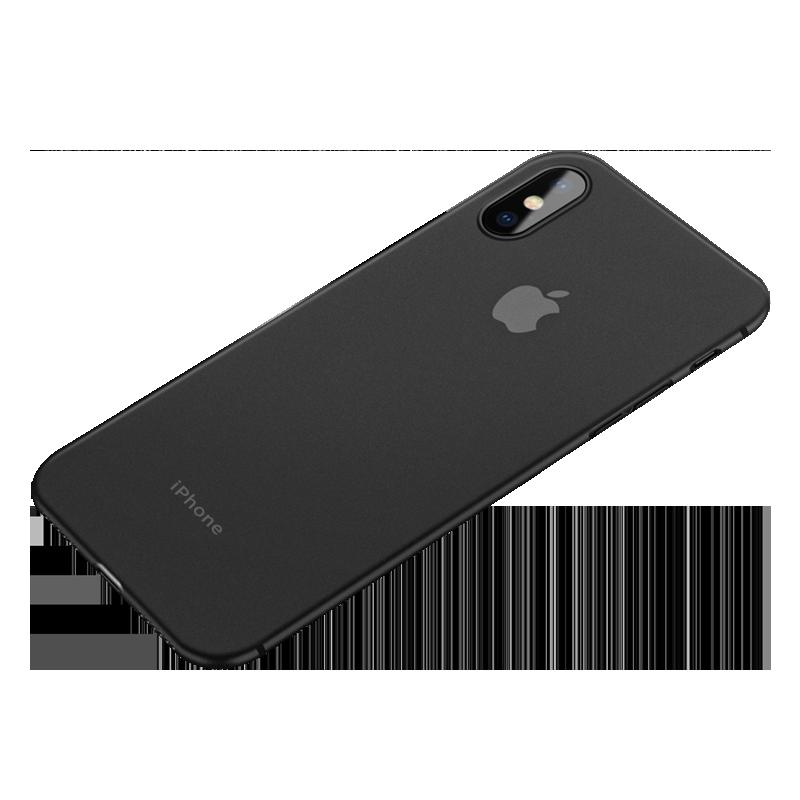 iPhone X纯色手机壳苹果6/6splus磨砂透明iPhoneX硬壳7P超薄全包防摔8X男女款轻薄新款黑色XR/XS MAX