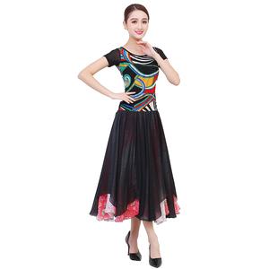 服大摆裙新款国标舞比赛练习连衣裙