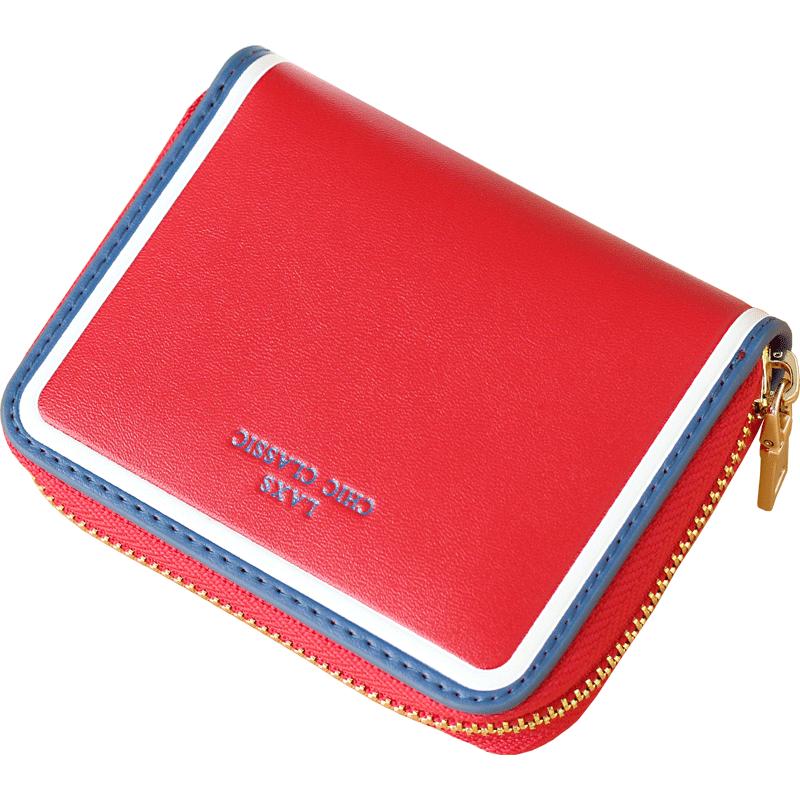 女式薄卡包多卡位牛皮拉链信用卡夹大容量真皮女士钱包一体包卡套