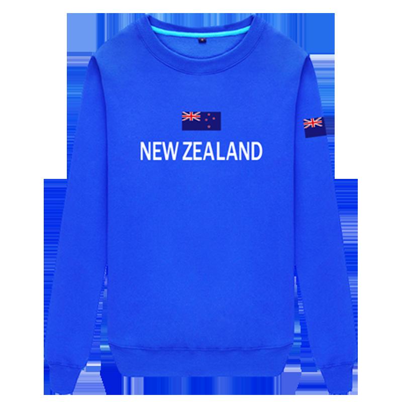 新西兰圆领卫衣男女薄体育运动足球长袖队服球衣服旅游纽西兰上衣