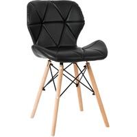 朵颐 实木餐椅靠背休闲椅伊姆斯椅塑料椅办公椅会议洽谈椅靠背椅
